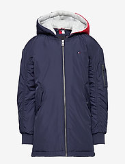 Tommy Hilfiger - HOODED FLIGHT PARKA - parkas - black iris - 1