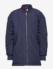 Tommy Hilfiger - HOODED FLIGHT PARKA - parkas - black iris - 2