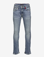 Tommy Hilfiger - STEVE SLIM TAPERED DAZDBST - jeans - dazzle destructed blue stretch - 0