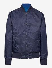 Tommy Hilfiger - REVERSIBLE TH LOGO - bomber jackets - twilight navy / lapis lazuli - 3