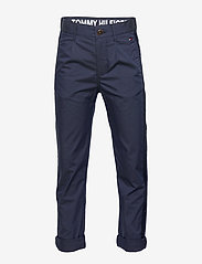 Tommy Hilfiger - PLEATED TAPE CHINO - trousers - twilight navy 654-860 - 0