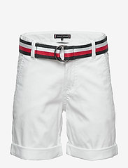 Tommy Hilfiger - ESSENTIAL BELTED CHI - shorts - white 658-170 - 1