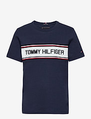 Tommy Hilfiger - TH INTARSIA TEE S/S - short-sleeved - twilight navy 654-860 - 0