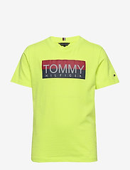 Tommy Hilfiger - REFLECTIVE HILFIGER TEE S/S - short-sleeved - safety yellow 13-0630 - 0