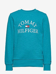Tommy Hilfiger - ESSENTIAL LOGO SWEAT - sweatshirts - exotic teal 326-650 - 0
