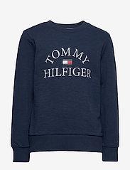 Tommy Hilfiger - ESSENTIAL LOGO SWEAT - sweatshirts - twilight navy - 0