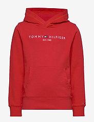 Tommy Hilfiger - ESSENTIAL HOODIE - hoodies - deep crimson 106-880 - 0