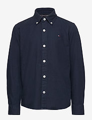Tommy Hilfiger - OVERDYE DOBBY SHIRT L/S - shirts - twilight navy 654-860 - 0