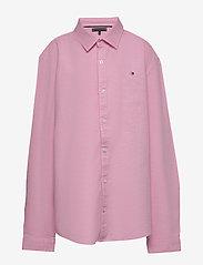 Tommy Hilfiger - STRUCTURED LINEN SHI - shirts - light cerise pink - 0