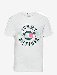 Tommy Hilfiger - UV PRINT PALM LOGO TEE S/S - short-sleeved - white - 0