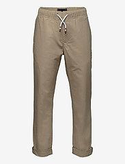 Tommy Hilfiger - STRETCH POPLIN PULL ON PANTS - sweatpants - silt - 0