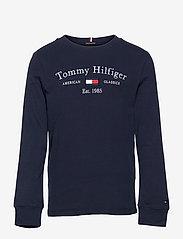Tommy Hilfiger - TH ARTWORK TEE L/S - sweatshirts - twilight navy - 0