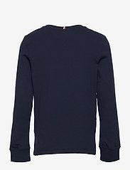 Tommy Hilfiger - TH ARTWORK TEE L/S - sweatshirts - twilight navy - 1