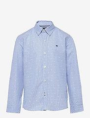 Tommy Hilfiger - DOTTED DOBBY SHIRT L/S - shirts - blue stripe - 0
