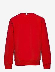 Tommy Hilfiger - FLAG RIB INSERT SWEATSHIRT - sweatshirts & hættetrøjer - deep crimson - 1