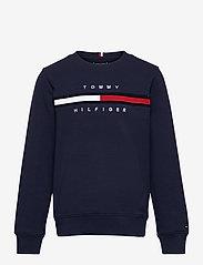 Tommy Hilfiger - FLAG RIB INSERT SWEATSHIRT - sweatshirts - twilight navy - 0