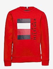 Tommy Hilfiger - GLOBAL STRIPE CN - sweatshirts - deep crimson - 0