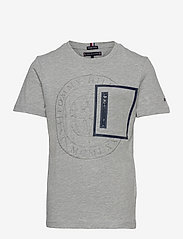 Tommy Hilfiger - TAPED POCKET TEE S/S - pattern short-sleeved t-shirt - grey heather - 0