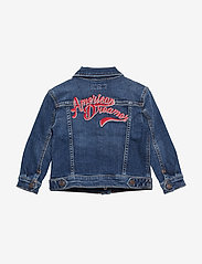 Tommy Hilfiger - OVERSIZED TRUCKER FO - denim & corduroy - forest mid blue stretch - 1