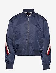 Tommy Hilfiger - GLOBAL STRIPE TAPED BOMBER - bomber jackets - twilight navy - 0