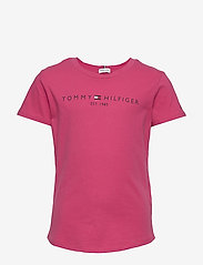 Tommy Hilfiger - ESSENTIAL  TEE S/S - short-sleeved - blush red - 0