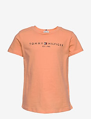 Tommy Hilfiger - ESSENTIAL  TEE S/S - short-sleeved - melon orange - 0