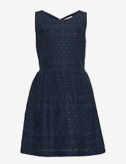 Tommy Hilfiger - BRODERIE ANGLAISE DRESS SLVLS - nightdresses - twilight navy - 0