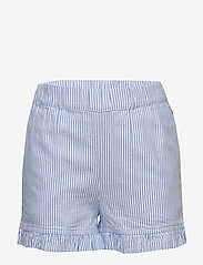 Tommy Hilfiger - RUFFLE ITHACA STRIPE - shorts - white/ calm blue - 0