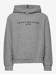 Tommy Hilfiger - ESSENTIAL HOODED SWEATSHIRT - hættetrøjer - mid grey htr - 0
