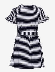 Tommy Hilfiger - RUFFLE STRIPE JERSEY DRESS  S/S - dresses - twilight navy/ white - 1