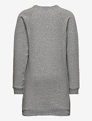 Tommy Hilfiger - RUFFLE RIB SWEAT DRESS L/S - dresses - mid grey htr - 1