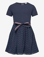 Tommy Hilfiger - COMBI DRESS S/S - dresses - twilight navy - 0