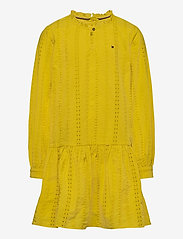 Tommy Hilfiger - EMBROIDERY ANGLAIS D - dresses - valley yellow - 0
