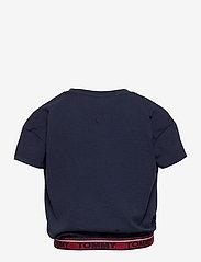 Tommy Hilfiger - TOMMY LUREX RIB  TOP S/S - plain short-sleeved t-shirt - twilight navy - 1