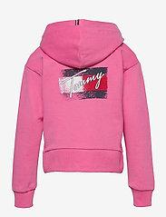 Tommy Hilfiger - FLAG PRINT ZIP HOODIE - sweatshirts & hoodies - exotic pink - 1