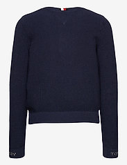 Tommy Hilfiger - STRUCTURED CARDIGAN - gilets - twilight navy - 1