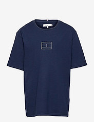 Tommy Hilfiger - TOMMY REFLECTIVE PRINT TEE S/S - short-sleeved - twilight navy - 0