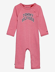 Tommy Hilfiger - BABY RAGLAN COVERALL L/S - langärmelig - rosey pink - 0