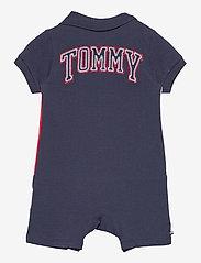 Tommy Hilfiger - BABY COLORBLOCK POLO SHORTALL - kurzärmelig - twilight navy - 1