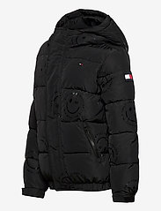 Tommy Hilfiger - U  GLOSSY SMILE AO JACKET - puffer & padded - black allover / smiley allover - 2
