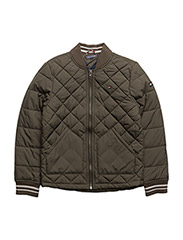 THKB QUILTED JACKET - GRAPE LEAF