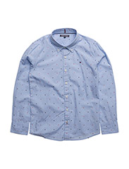 AME TH DOBBY SHIRT L/S - SHIRT BLUE