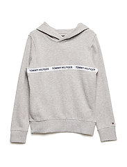 ESSENTIAL HILFIGER HOODIE - LIGHT GREY HTR