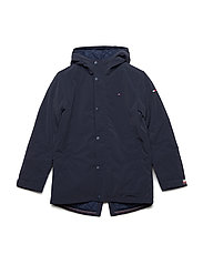 COATED HILFIGER PARK - BLACK IRIS