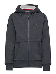 BOYS BASIC ZIP HOODI - SKY CAPTAIN