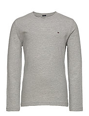 BOYS BASIC CN KNIT L - GREY HEATHER