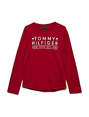 ESSENTIAL TOMMY TEE, - APPLE RED