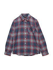 MULTICOLOR BRUSHED TWILL CHECK SHIRT L/S