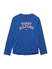 ESSENTIAL HILFIGER TEE L/S - OLYMPIAN BLUE