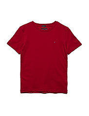 ESSENTIAL CREW NECK KNIT S/S - APPLE RED
